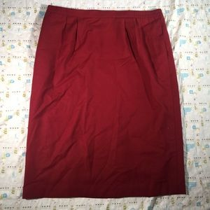 Vintage Schroden Plus Size Red Wool Pencil Skirt🦖